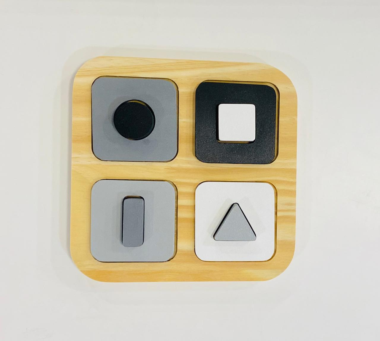 Tablero encastre figuras geometricas doble